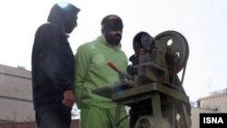 عکس از اجرای مجازات قطع دست در گذشته در ایران.