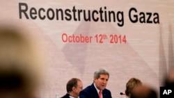 ABD Dışişleri Bakanı John Kerry Kahire'de toplanan Gazze konferansında