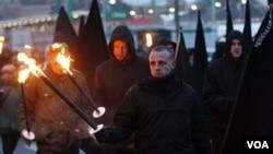 Pawai Neo-Nazi di Dresden, Jerman timur Minggu (13/2).
