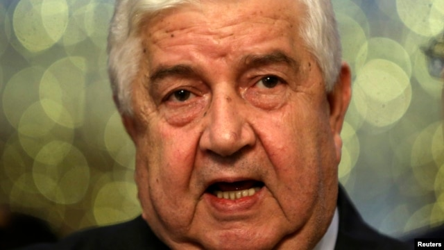 Syrian Foreign Minister Walid al-Moualem says Sept. 9, Syria welcomes the Russian chemical weapons proposal.