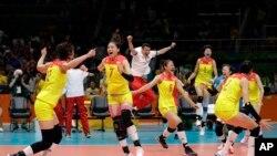 中国女排获得里约奥运冠军