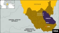 The restive state of Jonglei, South Sudan, where the South Sudan Army says it has recaptured the town of Boma from rebels.