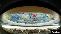 Một phiên họp của Hội đồng Nhân quyền LHQ.