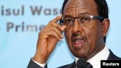 압디 파라 시르돈 소말리아 총리가 2일 모가디슈에서 기자회견을 가졌다.