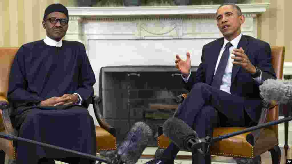 Barack Obama et Muhammadu Buhari, Washington, 20 juillet 2015.