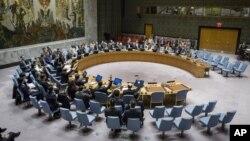 Hình tư liệu - Hội đồng Bảo an bỏ phiếu tại trụ sở Liên Hiệp Quốc về việc siết chặt chế tài đối với Bắc Triều Tiên đáp lại vụ thử hạt nhân thứ 5 và lớn nhất, ngày 30/11/2016.