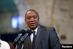 Kenya's President Uhuru Kenyatta delivers a speech during a ceremony at the All Saints Anglican Church in Nairobi, Kenya, Oct. 5, 2017.