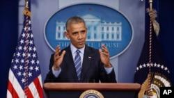 美国总统奥巴马在白宫召开了2016年的最后一场记者会