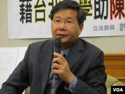 台灣在野黨台聯黨立委 許忠信(美國之音張永泰拍攝)