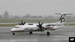 西雅圖的塔科馬國際機場上地平線航空公司的客機(2018年6月9日)