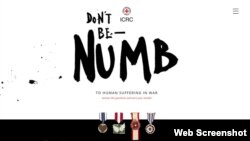 "A portion of the ""Don't Be Numb"" website."