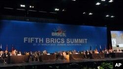 Саммит БРИКС в Дурбане, Южная Африка. 27 марта 2013 года