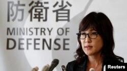 북한이 5차 핵실험을 실시한 지난 9일, 이나다 도모미 일본 방위상이 도쿄 방위성에서 관련 기자회견을 하고 있다. (자료사진)