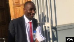Going to court to file papers on behalf of the MDC Alliance ...
