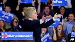 La ex secretaria de Estado se declaró vencedora de las primarias demócratas en Nevada