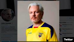 Džulijan Asanž postavi je na svom Tviter nalogu sliku u dresu nacionalnog fudbalskog tima Ekvadora