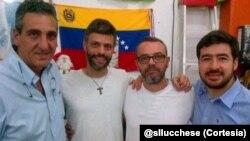 Enzo Scarano, Leopoldo Lopez, Salvatore Lucchese y Daniel Ceballos, para quienes la CIDH ha pedido medidas cautelares.