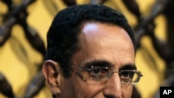 利比亞全國過渡委員會的副主席阿卜杜勒‧哈菲茲‧果加四月16日在班加西的一個記者招待會上
