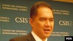 Gita Wirjawan saat menjadi pembicara forum diskusi di CSIS, Washington DC (7/7).