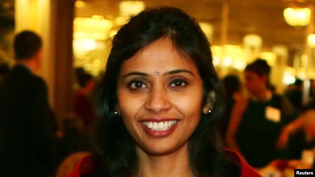 FILE - Devyani Khobragade, December 8, 2013.