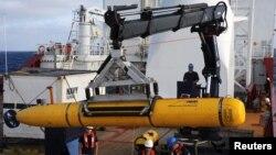 El submarino Bluefin-21 enncontró aguas demasiado profundas en una primera inmersión.