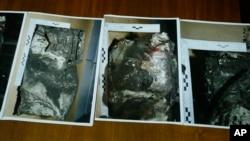 Hình ảnh cho thấy chiếc hộp đen thứ hai mới được tìm thấy của chiếc máy bay của hãng Germanwings.