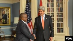 Angola foreign minister George Chikoti US Secretary of State John Kerry