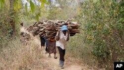 Mulheres fazem trabalho pesado para sustentar as famílias.