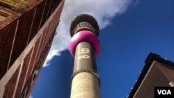 At the foot of one of Johannesburg's most recognizable landmarks, the Hillbrow tower.