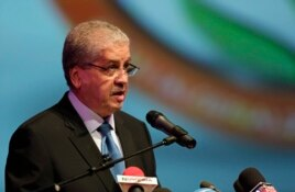 Algeria's Prime Minister Abdelmalek Sellal speaks during the opening ceremony of the African Conference on Green Economy in Oran, Feb. 22, 2014.