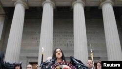 Mwendesha mashtaka mkuu wa Baltimore, Marilyn Mosby akitangaza ripoti ya kifo cha Freddie Gray, May 1st 2015.