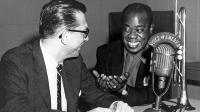 "Willis Conover interviews Louis ""Satchmo"" Armstrong."