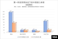 第一阶段贸易协定下的中国进口承诺(能源类)
