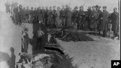 拉科他.苏族印第安人的葬礼