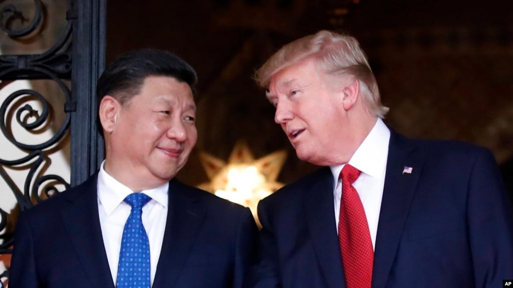 美國總統川普與中國國家主席習近平2017年4月在海湖莊園會晤