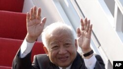 Cambodia's former King Norodom Sihanouk