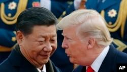 中国国家主席习近平在北京会晤美国总统特朗普
