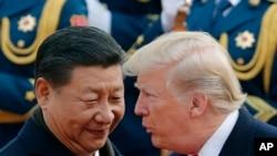 Shugaba Xi Jingping na China (Hagu) da shugaba Trump na Amurka (Dama)