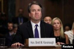 El juez Brett Kavanaugh testifica ante la Comisión Judicial del Senado el jueves, 27 de septiembre de 2018.