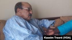 Le président du Congrès pour la Justice dans l'Azawad (CJA) Hamma Ag Mahamoud lors d'une interview avec Kassim Traoré de VOA Afrique à Bamako, Mali, 15 novembre 2016. VOA/Kassim Traoré
