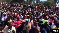 Some of the people who attended President Robert Mugabe's so-called provincial meeting in Marondera on Friday.