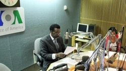 """Your Future-Your Health"" host, Khalil Gueye, recording Saturday's first broadcast of the VOA French to Africa program."