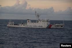 中国船舰2013年8月在钓鱼岛(日本称尖阁诸岛)附近行驶
