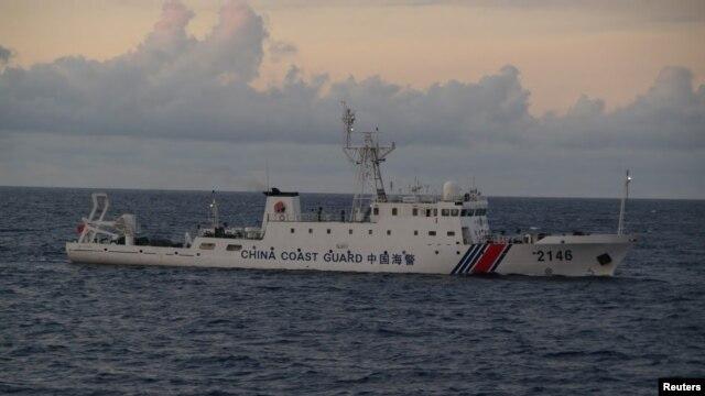 Một tàu tuần duyên của Trung Quốc số hiệu 2146 tuần tra ở vùng Biển Đông.