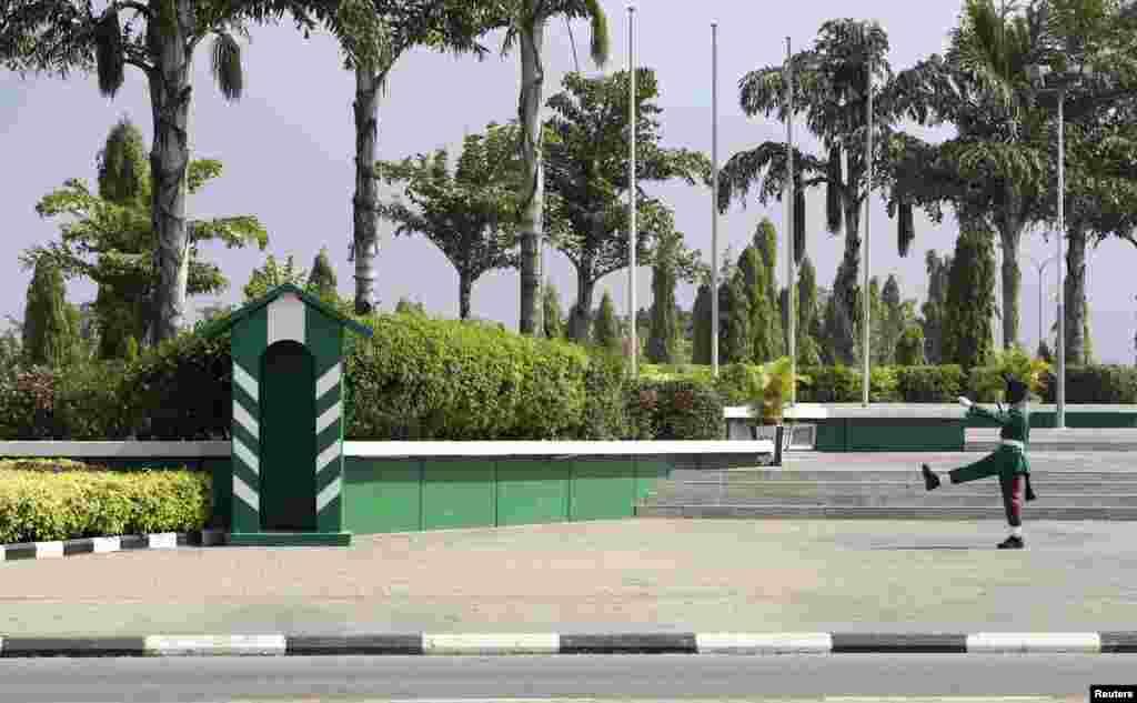 Soja na maci a dandalin Eagle Square dake Abuja