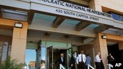 Kantor pusat Komite Nasional Demokrat (DNC) di Washington, yang menghadapi peretasan baru-baru ini.
