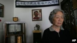 在六四镇压中痛失爱子的天安门母亲丁子霖(2008年6月4日资料照片)