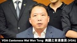民主黨主席胡志偉 (攝影:美國之音湯惠芸)