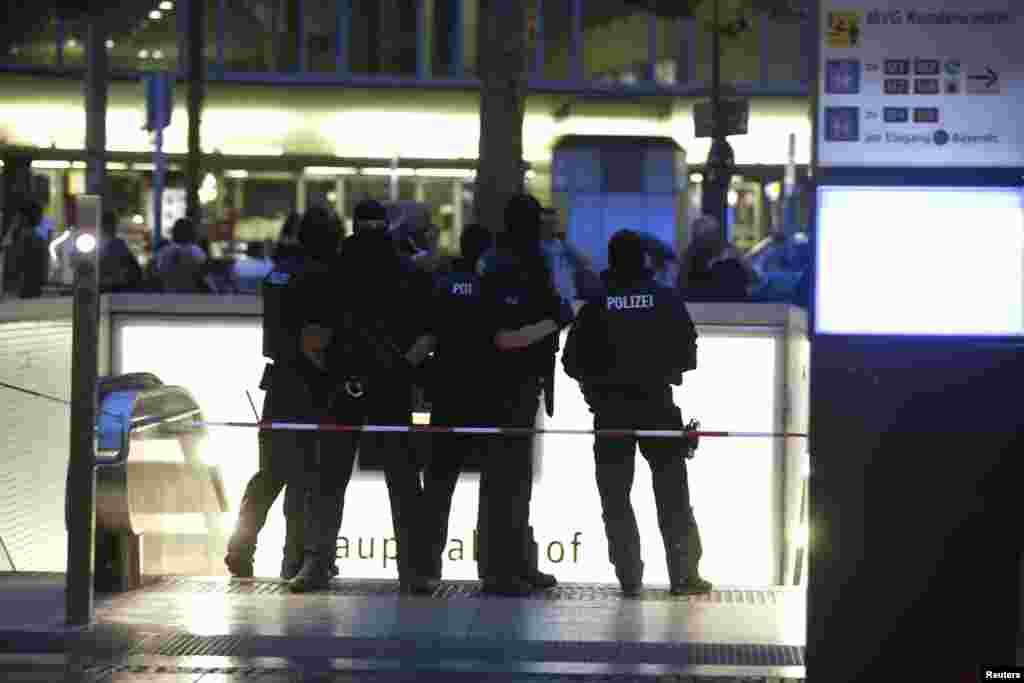 Policiers en état d'alerte à Munich, le 22 juillet 2016.