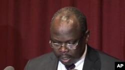Pagan Amum, chef de la délégation sud-soudanaise à Addis-Abéba